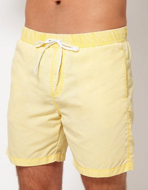 Image 1 ofASOS Swim Shorts With Acid Wash