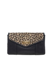 River Island Leopard Ponyskin Leather Clutch