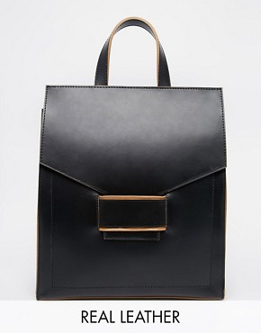 ASOS Everly Premium Leather Backpack
