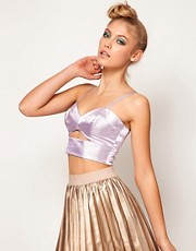 Lashes Of London Metallic Bralet with Cut Out