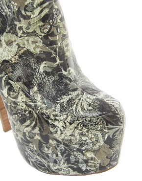 Image 3 ofALDO Rise x Preen Gillote Print Platform Heeled Shoeboots