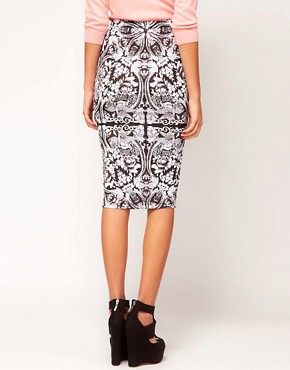 Image 2 ofASOS Pencil Skirt In Baroque Print