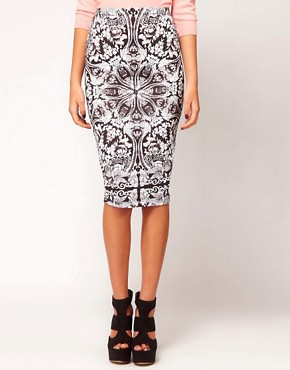 Image 4 ofASOS Pencil Skirt In Baroque Print