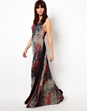 Image 4 of Improvd Scarlett Chiffon Maxi Dress with Racer Back