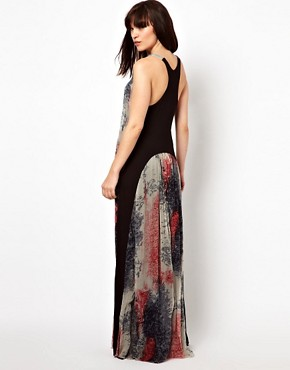 Image 1 of Improvd Scarlett Chiffon Maxi Dress with Racer Back