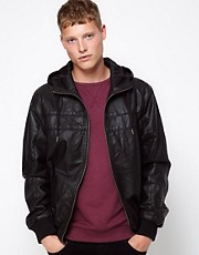 Barneys Originals Leather Look Jacket