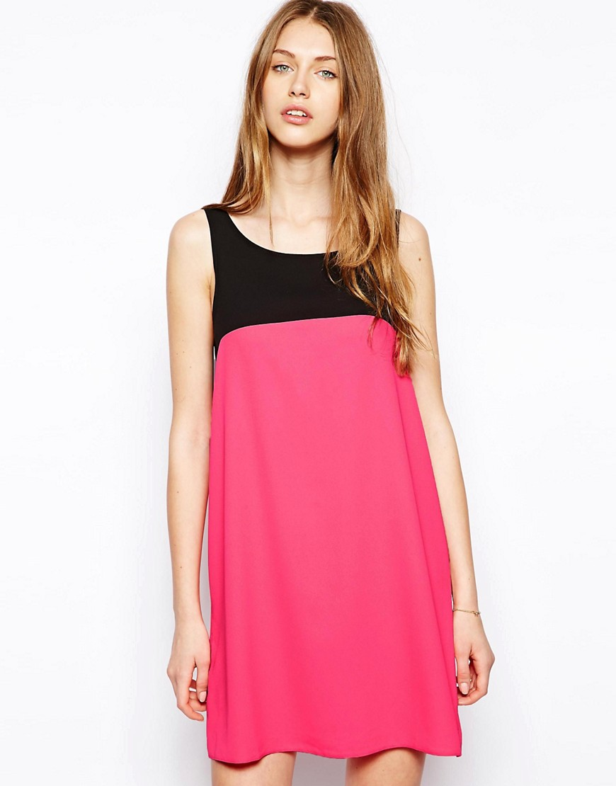 Love Colourblock Shift Dress - Pink