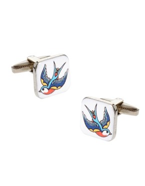 Image 1 ofASOS Swallow Tattoo Cufflinks