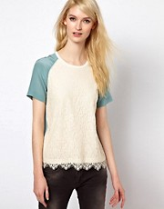 Paul and Joe Sister Lace Shell Top in Silk