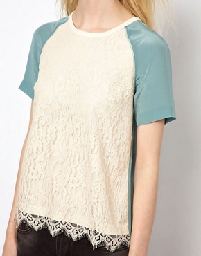 Image 3 ofPaul and Joe Sister Lace Shell Top in Silk