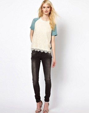 Image 4 ofPaul and Joe Sister Lace Shell Top in Silk
