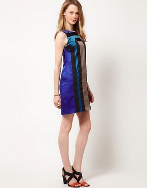 Image 4 ofA Wear Grosgrain Shift Dress