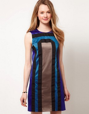 Image 1 ofA Wear Grosgrain Shift Dress