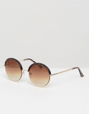 New Look Round Tort Detail Sunglasses