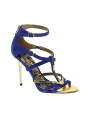 Sam Edelman Alena Blue Strappy Sandals