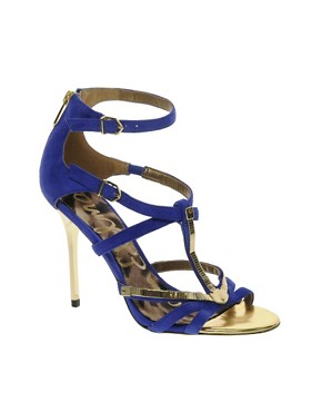 Image 1 ofSam Edelman Alena Blue Strappy Sandals