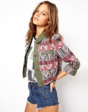 Chaqueta con estampado colour block de ASOS