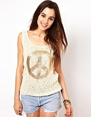 Club L Peace Knitted Tank