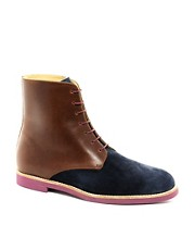T&amp;F Slack Nubuck Oxford Boots