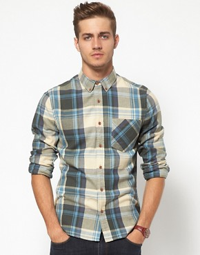 Image 1 ofASOS Check Shirt In Brushed Twill