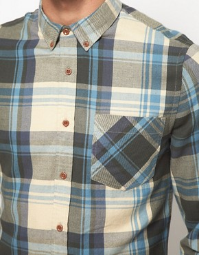 Image 3 ofASOS Check Shirt In Brushed Twill