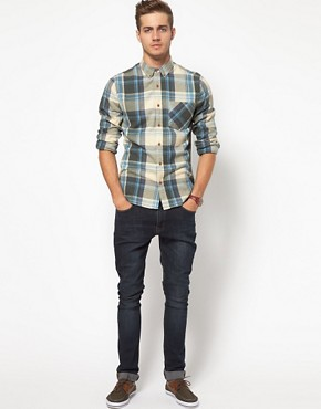 Image 4 ofASOS Check Shirt In Brushed Twill