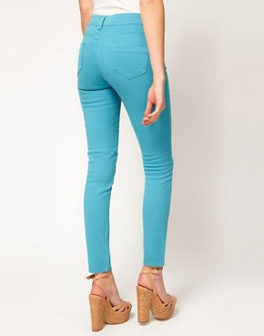 Image 2 ofASOS PETITE Exclusive Skinny Jeans In Aqua #4
