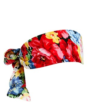 Image 2 ofASOS Floral Scarf Hair Band