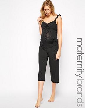 Cake Maternity Choc Vanilla 3/4 PJ Trousers