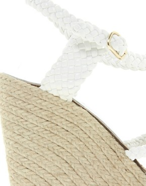 Image 3 of ASOS HAMMOCK Leather Espadrille Wedges