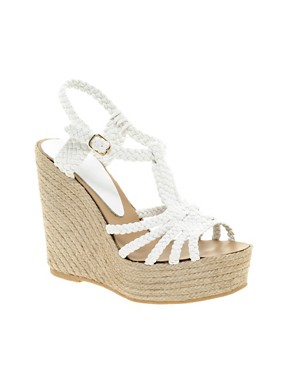 Image 1 of ASOS HAMMOCK Leather Espadrille Wedges