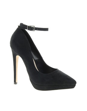 Image 1 of Carvela Annie Pointed Ankle Strap Court Shoes