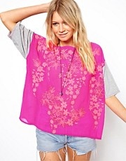 ASOS T-Shirt with Floral Puff Print