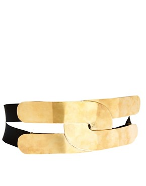 Image 1 ofASOS Wide Plate And Elastic Waist Belt