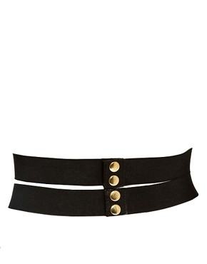 Image 2 ofASOS Wide Plate And Elastic Waist Belt