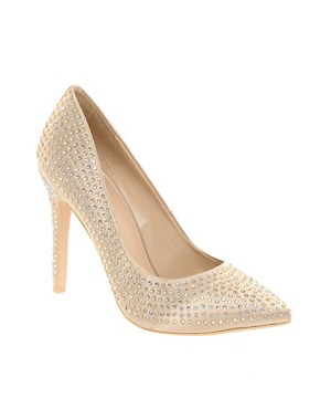 Image 1 of Carvela Grand Pointed Court Shoes with Stones