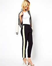 ASOS Trousers with Sports Colour Block Tape