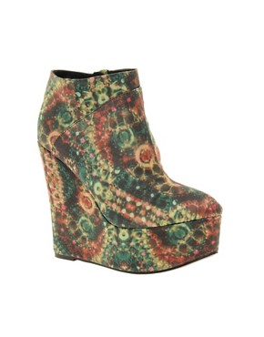 Image 1 ofASOS REVIVE RAZZLE DAZZLE Wedge Ankle Boots