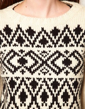 Image 3 ofKomodo &#39;Copper&#39; Jumper in Nordic Print
