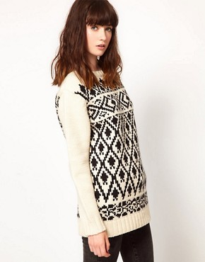 Image 1 ofKomodo &#39;Copper&#39; Jumper in Nordic Print