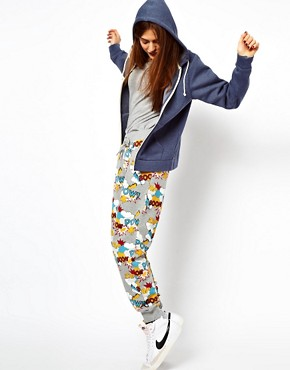 Image 1 ofASOS Sweatpants in Pow Comic Print