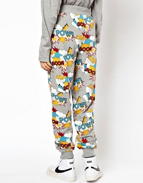 Image 2 ofASOS Sweatpants in Pow Comic Print