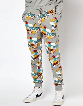 Image 4 ofASOS Sweatpants in Pow Comic Print