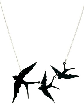 Image 1 ofTatty Devine Swallow Necklace