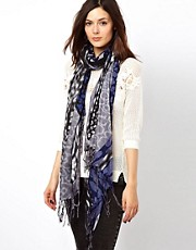 Warehouse Disco Animal Print Scarf