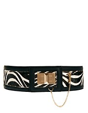 River Island Zebra Lock Waisted Belt