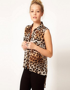 Image 1 ofWarehouse Animal Print Shirt