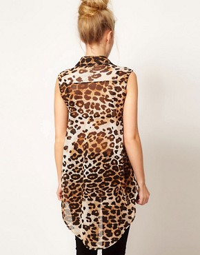 Image 2 ofWarehouse Animal Print Shirt