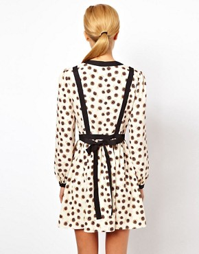 Image 2 ofASOS PETITE Exclusive Skater Dress With Bow Tie Back