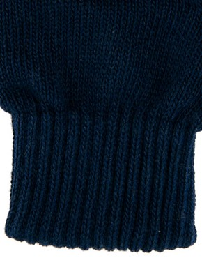 Image 2 ofASOS Navy Fingerless Gloves